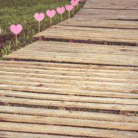 pad met harten