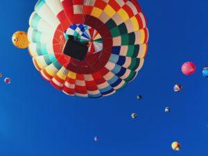 Luchtballon, een ander perspectief